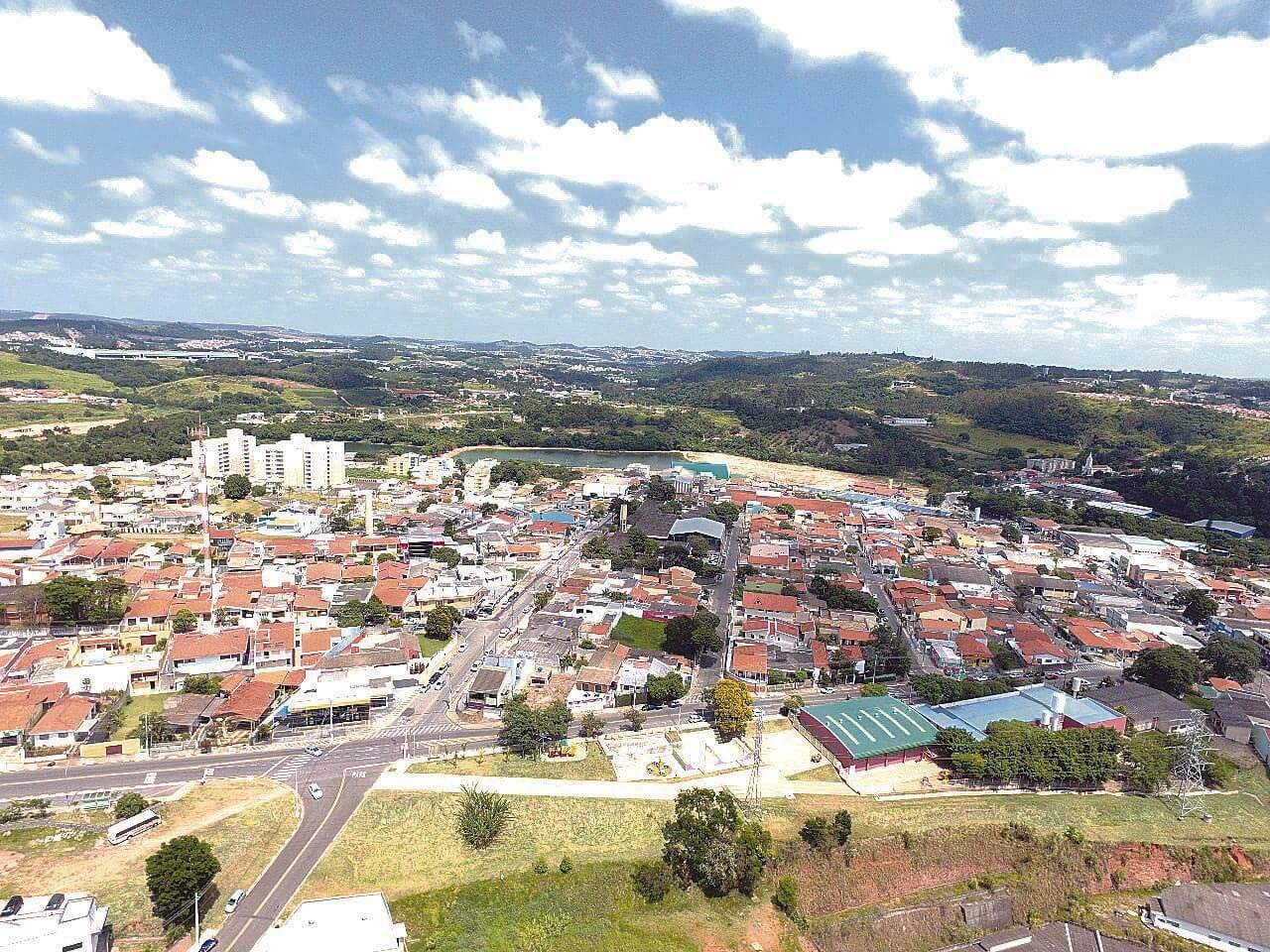 Vista Aérea da Cidade de Louveira SP